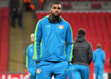Jonathan Tah. Football players pictured prior to UEFA Champions League Group E game between Tottenham Hotspur and Bayer Leverkusen on November 2, 2016 at Wembley Royalty Free Stock Photo