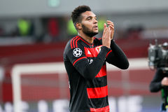 Jonathan Tah during the UEFA Champions League game between Bayer Stock Images