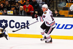 Jonathan Toews Chicago Blackhawks. Chicago Blackhawks captain Jonathan Toews #19 royalty free stock image