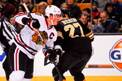 Jonathan Toews Chicago Blackhawks. Chicago Blackhawks forward Jonathan Toews #19 stock photo