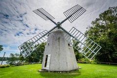 Jonathan Young Windmill, i Orleans, Cape Cod, Massachusetts arkivbilder