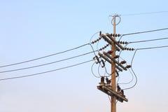 Jonction électrique de pôle Images stock