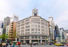 Jonction de bâtiment de Ginza Wako images stock
