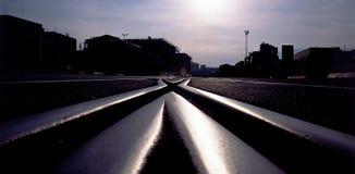 Jonction de chemin de fer images libres de droits