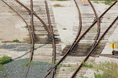 Jonction de chemin de fer Photographie stock