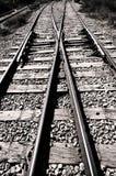 Jonction de chemin de fer - noir et blanc Photo stock