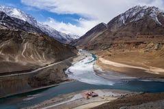 Jonction de rivière Photo libre de droits