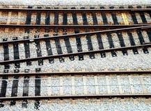 Jonction de voie ferroviaire Photo stock