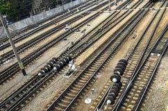 Jonction ferroviaire Photos stock