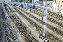 Jonction ferroviaire Images libres de droits