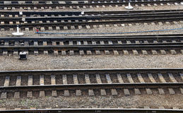 Jonction ferroviaire photographie stock