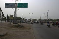 Jonction Lagos, Nigéria de Badagry Image libre de droits