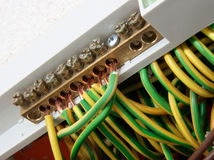 jonctions de câbles électriques Photo stock