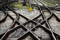 Jonctions de gare ferroviaire Image stock
