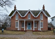 Jones House. This is a picture of the Jones House located in Pontiac, Illinois.  The house was built by John Dehner, is an example of the Gothic Revival style of Royalty Free Stock Photography