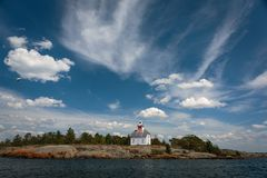 Jones Island Lighthouse Georgian Bay photos stock
