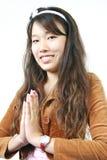 Jong aantrekkelijk Aziatisch meisje Stock Afbeeldingen