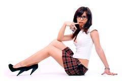 Jong aantrekkelijk sexy schoolmeisje Stock Foto's