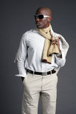 Jong Afrikaans Amerikaans Mannetje Stock Afbeelding