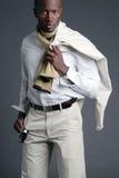 Jong Afrikaans Amerikaans Mannetje Stock Afbeeldingen