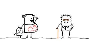 Jong & Oud stock illustratie