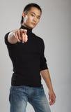 Jong Aziatisch mannelijk model Stock Foto's
