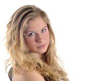 Jong blond portret Stock Foto
