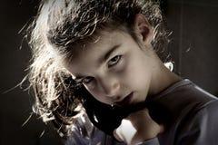 Jong boos meisje royalty-vrije stock foto's