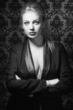 Jong de manierportret van de vrouwenstudio. Royalty-vrije Stock Foto