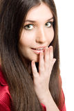 Jong donkerbruin meisje Stock Afbeelding