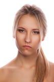 Jong emotioneel meisje Royalty-vrije Stock Afbeelding