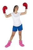 Jong en aantrekkelijk boksermeisje Royalty-vrije Stock Foto's