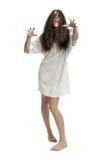 Jong geïsoleerdp zombiemeisje Stock Fotografie