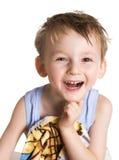 Jong geitje in badhanddoek Stock Foto