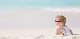 Jong geitje bij het strand stock afbeeldingen