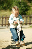 Jong geitje bij speelplaats Royalty-vrije Stock Afbeelding