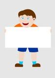 Jong geitje dat een banner houdt stock foto's