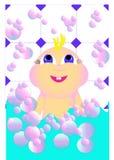 Jong geitje in een zeepbel Stock Fotografie