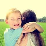 Jong geitje en Moeder Stock Foto's