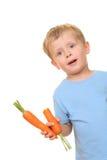Jong geitje en wortel Royalty-vrije Stock Afbeelding