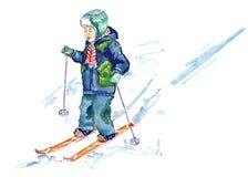Jong geitje het ski?en Royalty-vrije Stock Fotografie