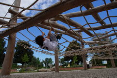 Jong geitje het spelen in de speelplaats Royalty-vrije Stock Afbeelding