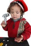Jong geitje het spelen met speelgoed Stock Foto