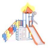 Jong geitje het spelen op speelplaats Royalty-vrije Stock Foto