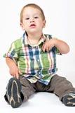 Jong geitje met houding Stock Fotografie
