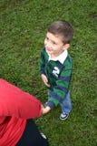 Jong geitje met papa royalty-vrije stock foto