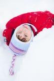 Jong geitje op de sneeuw Stock Afbeeldingen
