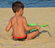Jong geitje op het strand Royalty-vrije Stock Foto's