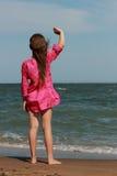 Jong geitje op het strand, de Krim royalty-vrije stock foto