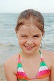 Jong geitje op het strand, de Krim royalty-vrije stock afbeeldingen